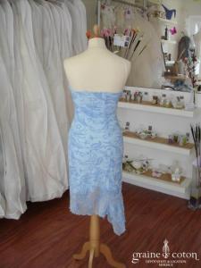 Orsay - Robe de soirée mi-longue bleue (non stocké en boutique, essayage sur demande)