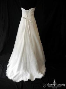 Lilly - Robe en dentelle drapée (laçage bustier fluide A-line)
