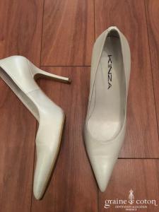 Kinza - Escarpins (chaussures) en cuir ivoire
