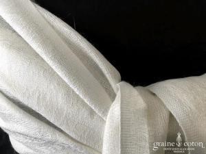 Pashmina en soie mélangée ivoire