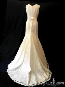 Galvan Sposa - Création sirène en fine dentelle ivoire (bretelles)