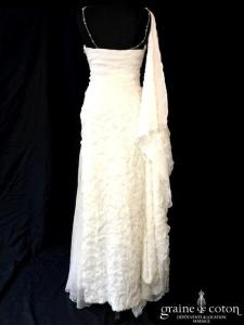 Isabella Kettiny - Tiberiade (mousseline de soie nuage bretelles empire fluide droite)
