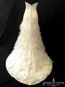 Cymbeline - Habby (bustier coeur dentelle taille basse tulle plumetis A-line dos-nu dos boutonné fluide bohème)
