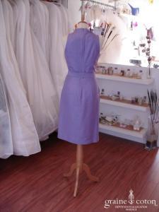 Adolfo Dominguez - Robe en soie sauvage violette (non stocké en boutique, essayage sur demande)