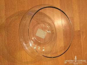 Centre de table rond en verre transparent