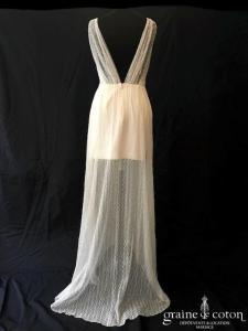 Rime Arodaky (La Malle de la Mariée) - Phoenix (bohème courte droite dentelle bretelles décolleté-V fluide dos-nu)