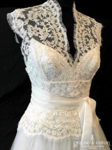 David Fielden pour Nuit blanche - Grace Kelly (dentelle tulle bretelles manches décolleté-V taille basse fluide bohème)