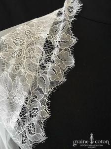 Bianco Evento - Boléro manches longues en soft tulle et dentelle