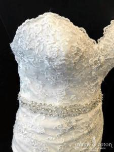 Rosa Clara - Robe sirène en dentelle ivoire (bustier dos boutonné)