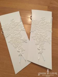 Bianco Evento - Mitaines courtes en dentelle fleurs ivoires (RD200)