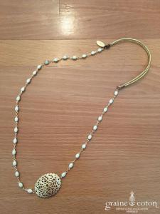 Les dissonnances - Headband doré et ivoire