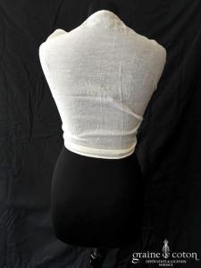Étole ivoire en coton effet gaufré