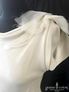 Amarildine - Adonis (crêpe mousseline de soie bretelles taille basse dos-nu boutonné fluide droite fourreau bohème)