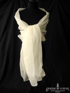 Cymbeline - Étole en organza de soie ivoire