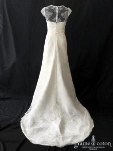 Gala - Galatea (bretelles tulle dentelle satin dos boutonné manches fourreau sirène)