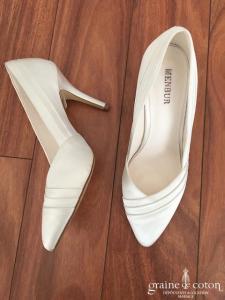 Menbur - Escarpins (chaussures) en satin ivoire