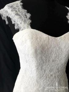 La Sposa pour Pronovias - Maxim (coeur bustier bretelles dentelle taille basse A-line dos boutonné bohème)