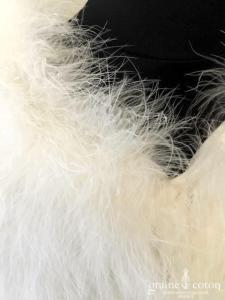 Hervé Mariage - Boléro en duvet / plumes ivoire clair