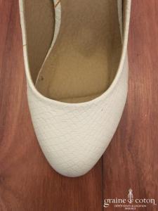 Naf Naf - Escarpins blancs façon peau