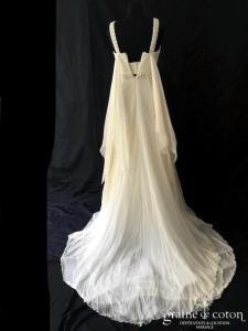 Elie Saab pour Pronovias - Regata (mousseline de soie fluide bretelles empire drapé)