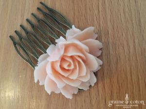 Création américaine - Peigne à cheveux avec rose
