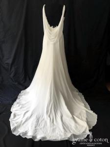 Pronuptia - Isaure (fluide mousseline drapé empire dos-nu bénitier bretelles)