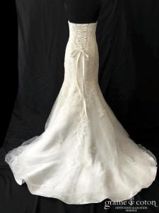 White One - Dayona (sirène tulle fluide dentelle bustier coeur laçage)