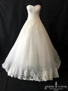 Blanc Couture - Crystalline (bustier tulle dentelle fluide princesse coeur laçage)