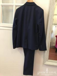 Paul Smith - Costume 2 pièces en laine et jacquard bleu marine