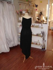 David Meister - Petite robe noire pailletée