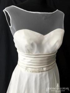 Stéphanie Allin pour Nuit Blanche - Shelley (bustier taille haute organza soie drapé fluide dos boutonné)