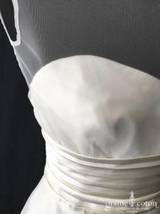 VENDU AVEC LA ROBE 4842 - Nuit Blanche - Boléro en tulle et ceinture satin (dos boutonné)