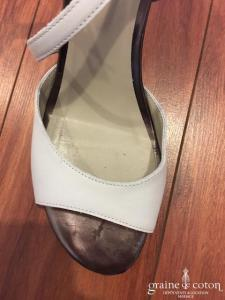 Perlato - Sandales blanches en cuir (chaussures)