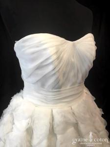 Pronuptia - Ariake (laçage organza drapé coeur bustier princesse)