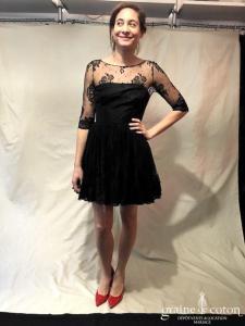 Delphine Manivet - Alexis (courte manches noire dentelle)