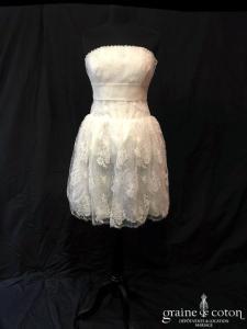 Delphine Manivet - Robe courte en dentelle (bustier taille basse)