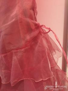 Cymbeline - Robe petite fille en organza mauve avec fines bretelles