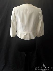 Luxe by Séraphine - Boléro / veste femme enceinte ou pas en crêpe ivoire clair (manches 3/4)