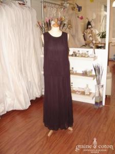 Nitya - Ensemble jupe et haut en voile mauve (non stocké en boutique, essayage sur demande)