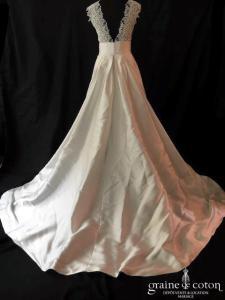 Atelier Emelia - Anouk (mikado dentelle bretelles dos-nu bohème fluide décolleté-V)
