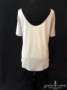 Delphine Manivet - Top en jersey de soie ivoire fluide (manches)
