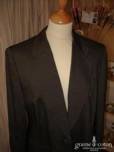 Cerruti - Tailleur laine gris foncé veste et jupe (non stocké en boutique, essayage sur demande)