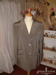 Cerruti - Veste en soie grise claire