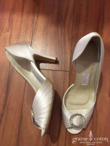 Rainbow - Escarpins (chaussures) Santi en satin ivoire clair