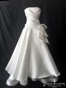 Cymbeline - Honolulu (mikado drapé princesse taille basse bustier noeud dos boutonné)