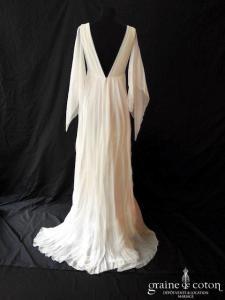 Delphine Manivet - Léonardo (empire moussleine de soie fluide bretelles decolleté-V dos-nu)