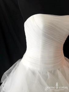 Pronovias - Belia (drapé tulle volutes princesse bustier coeur)