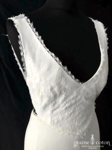 Rime Arodaky - Izia dentelle (fluide bohème bretelles dos-nu mousseline de soie décolleté-V)