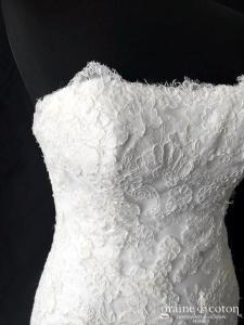 La Sposa pour Pronovias - Reina (fourreau sirène droite dentelle bustier crêpe)