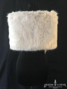 Zara - Étole cape en fausse fourrure gris perle